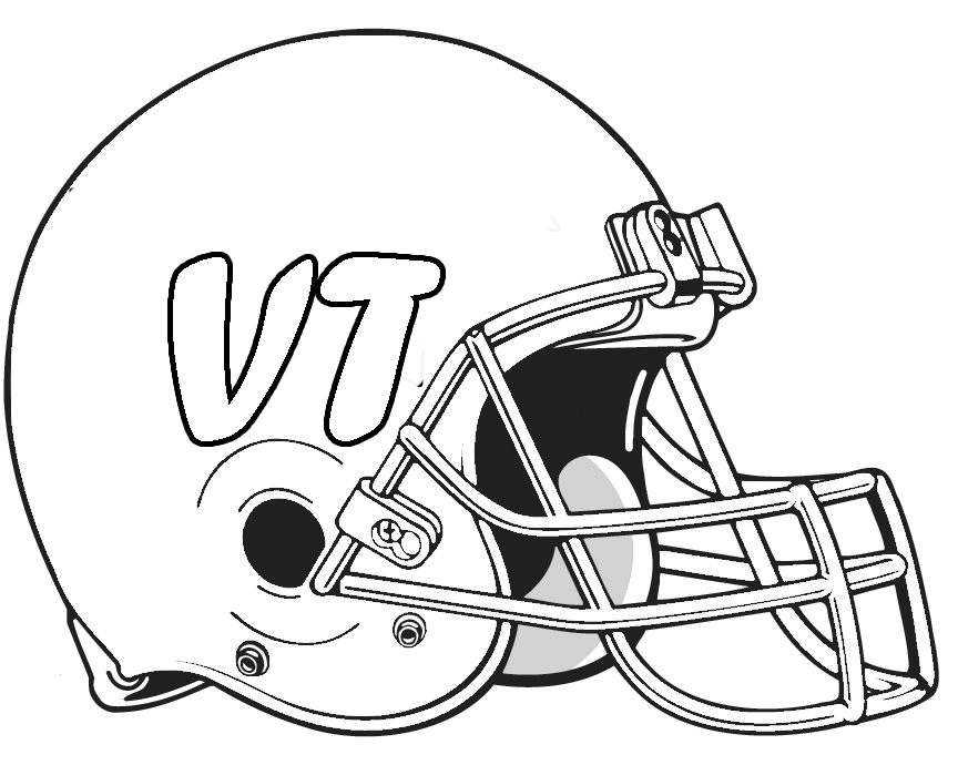 Helmet Football Saints New Orleans Coloring Pages - Football