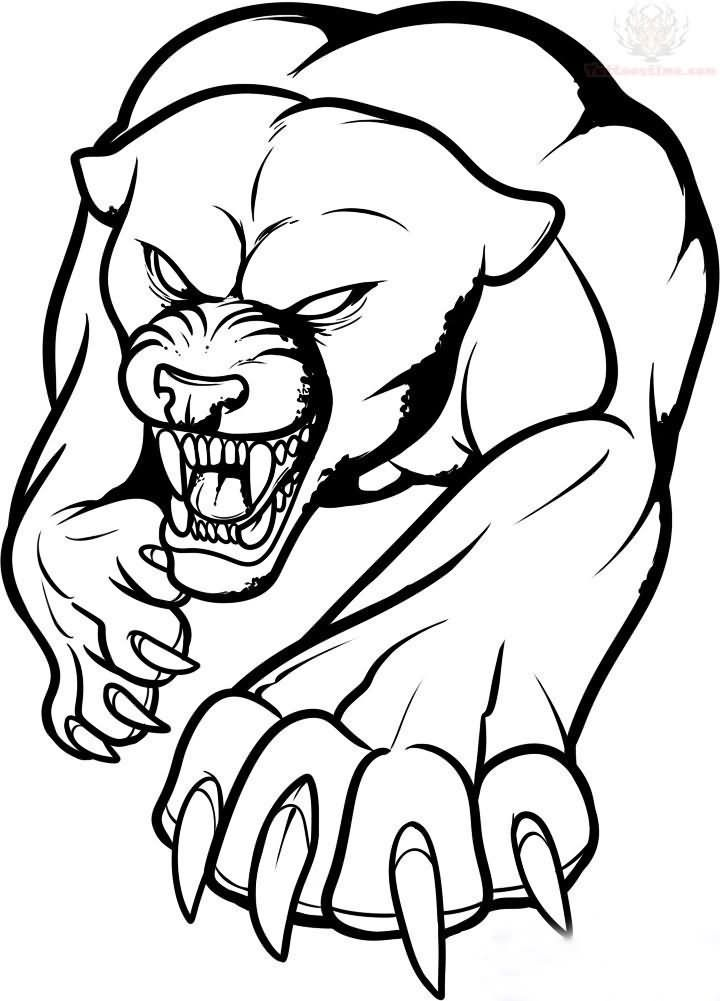 Wolf Face Outline - AZ Coloring Pages