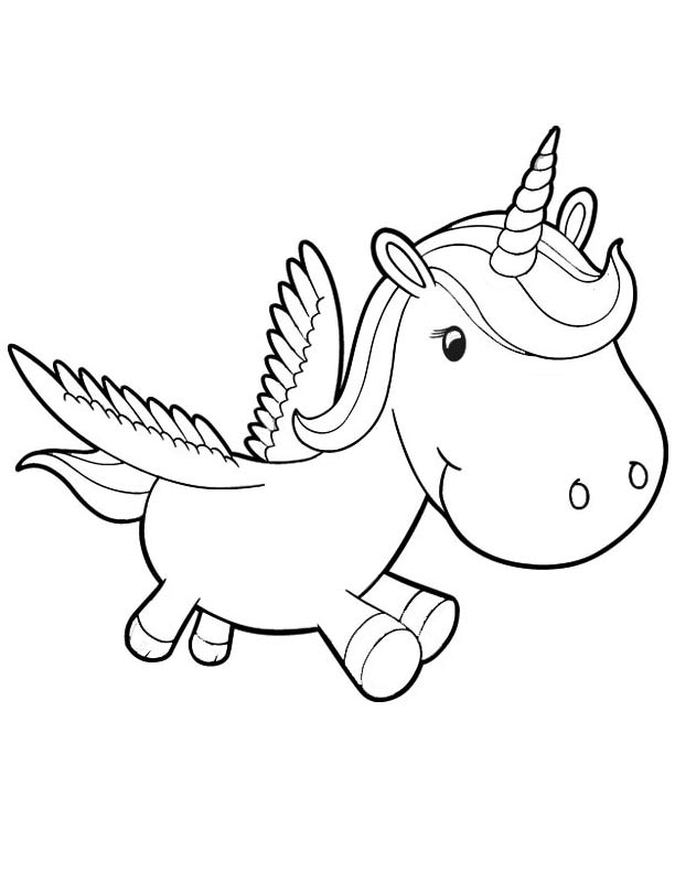 Baby Unicorns Coloring Pages Coloring Home