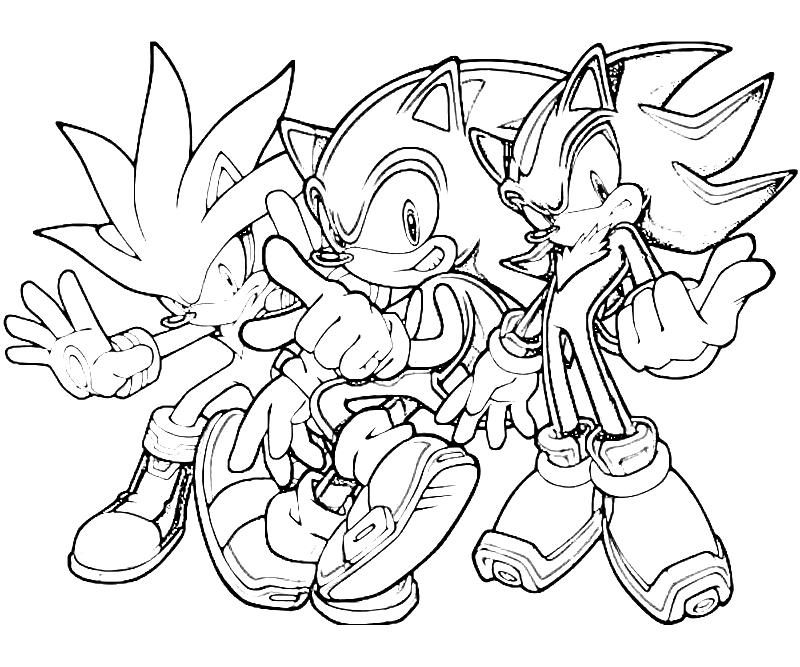- Super Sonic And Super Shadow And Super Silver Coloring Pages - Coloring Home