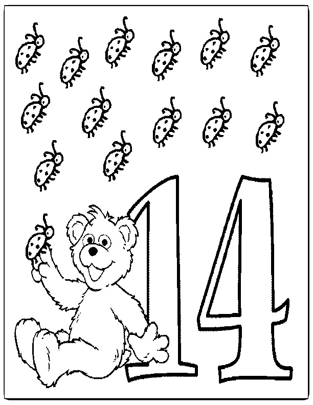 Number 15 Coloring Page - AZ Coloring Pages