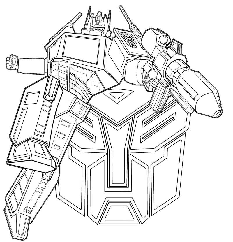 coloring pages optimus prime - photo#3