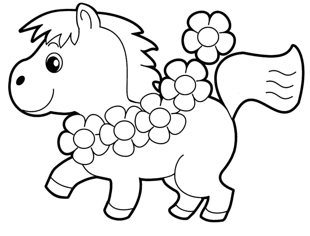 coloring pages simple animals - photo#45