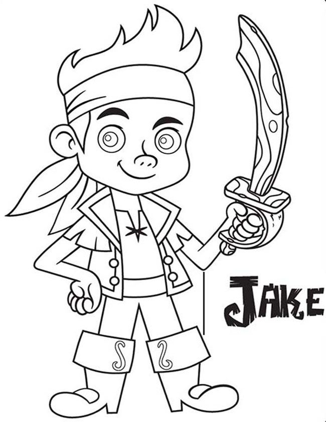 Jake and the neverland pirates drawing az coloring pages for Jake the pirate coloring pages