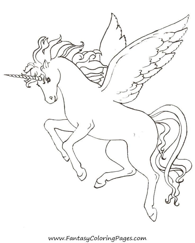Free Pegasus Coloring Page
