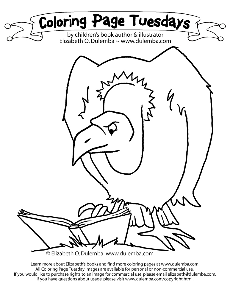 dulemba: Coloring Page Tuesday - Vulture