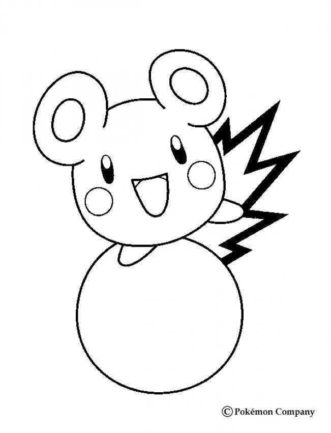 normal pokemon coloring pages azurill