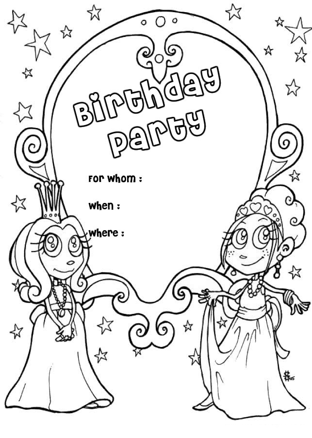 kid coloring pages for birthday - photo#24