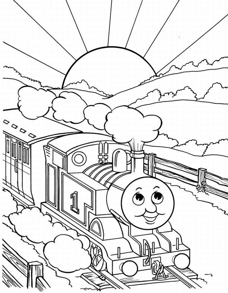 Thomas Train Coloring Pages | Olin