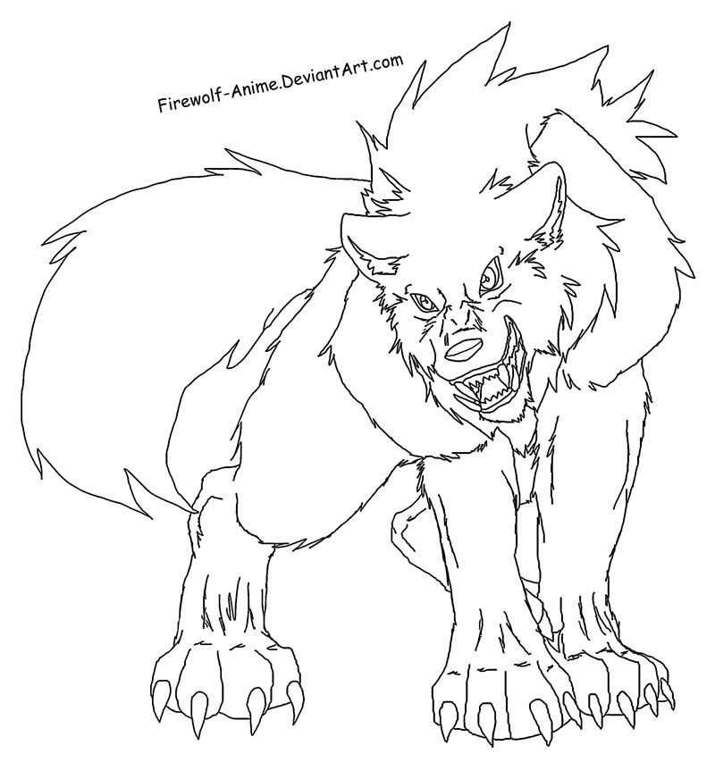 Wolf Printable Coloring Home Anime Wolf Coloring Pages Printable