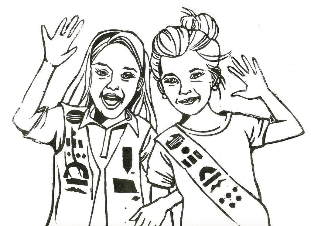 Girl Scout Promise Coloring Pages Coloring Home Scout Promise Coloring Page Free