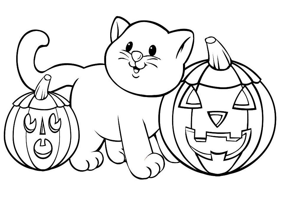 Hard Halloween Coloring Pages Printable Printable Halloween Coloring