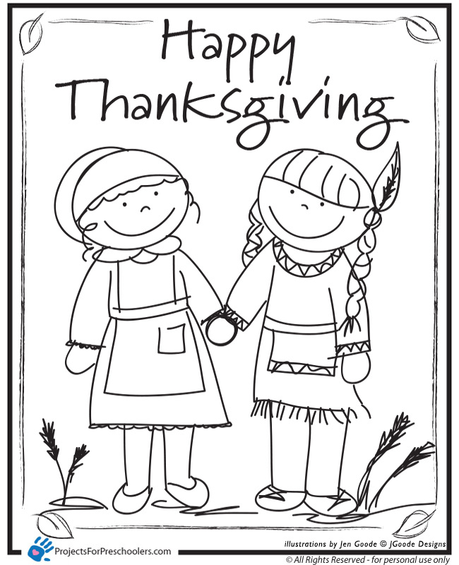 thanksgiving pre k coloring pages - photo#1