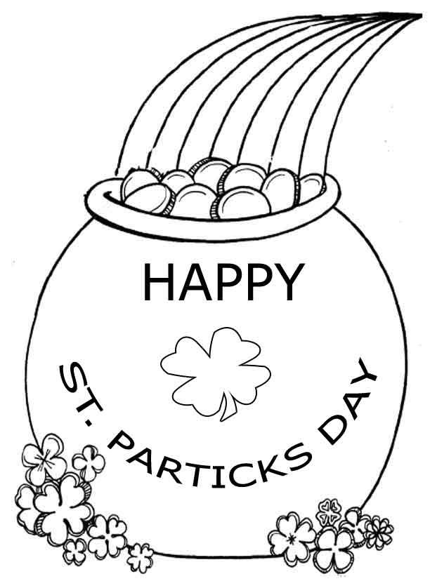 st patricks coloring pages - saint patrick day coloring pages az coloring pages