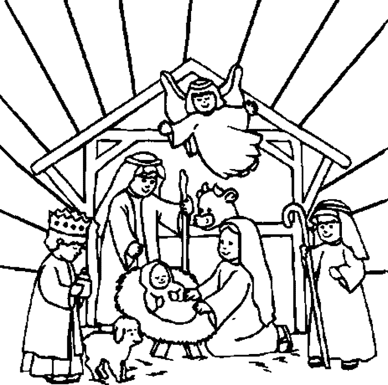 Free Printable Nativity Coloring Pages Coloring Home