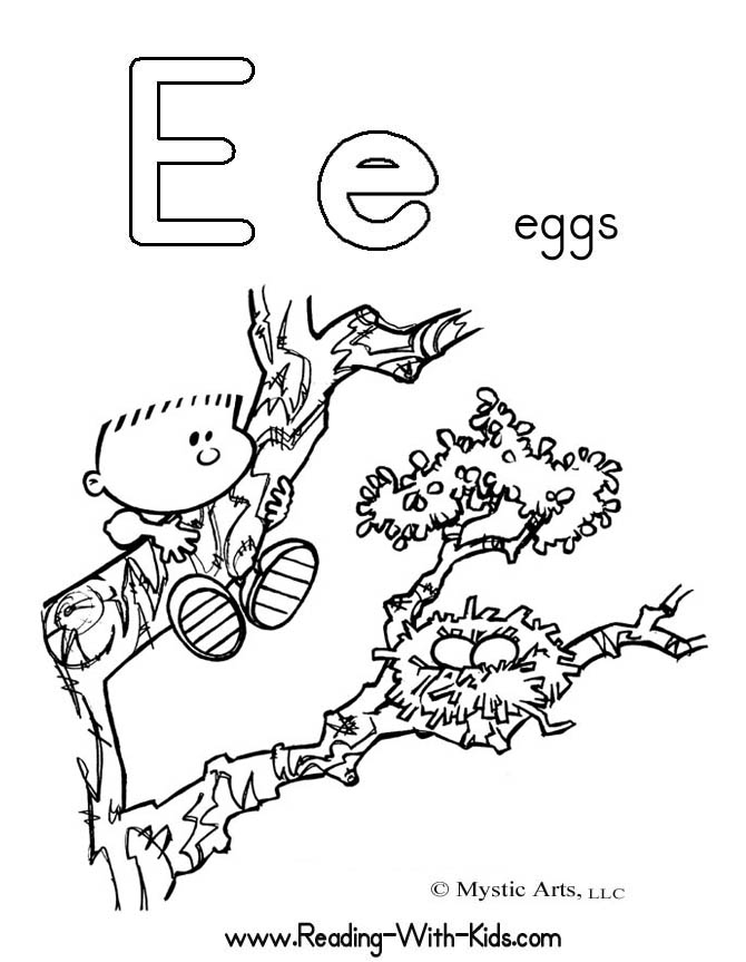 e alphabet coloring pages - photo #24