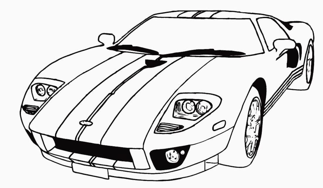 Fast Car Coloring Pages - Coloring Home