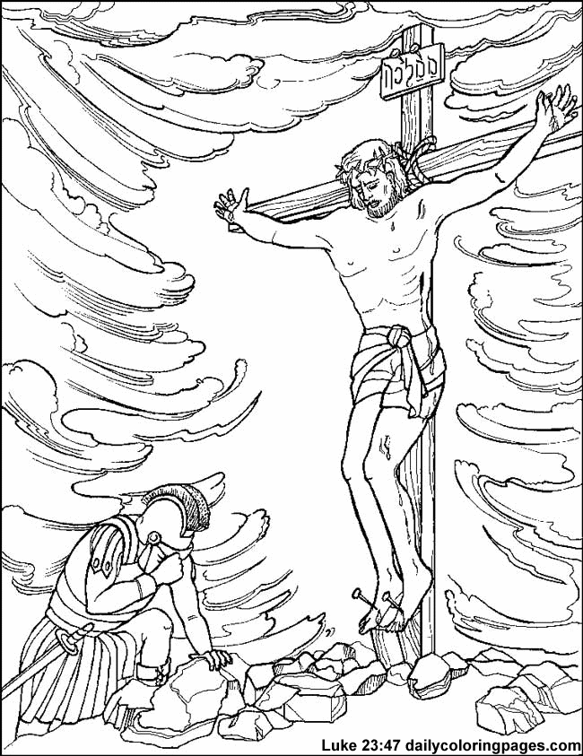 Crucifixion And Resurrection Of Jesus Christ Coloring Pages Coloring Home