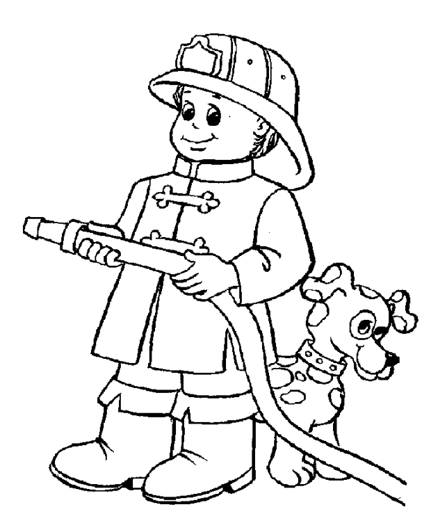 firefighter coloring pages for kids az coloring pages Firefighter Coloring Pages for Preschool  Coloring Firefighter