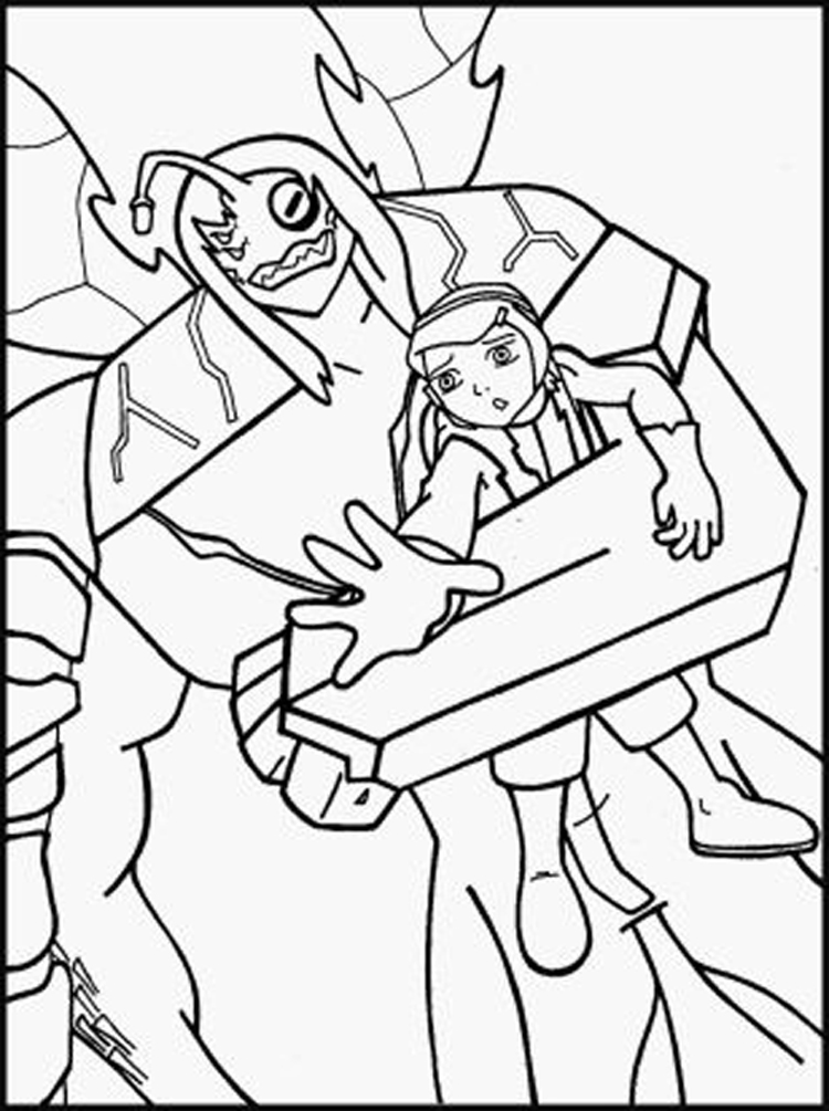 Ben Ten Ultimate Alien Coloring Pages