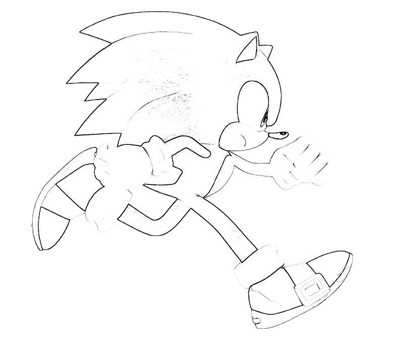 Sonic The Hedgehog Running Coloring Pages Coloring Home