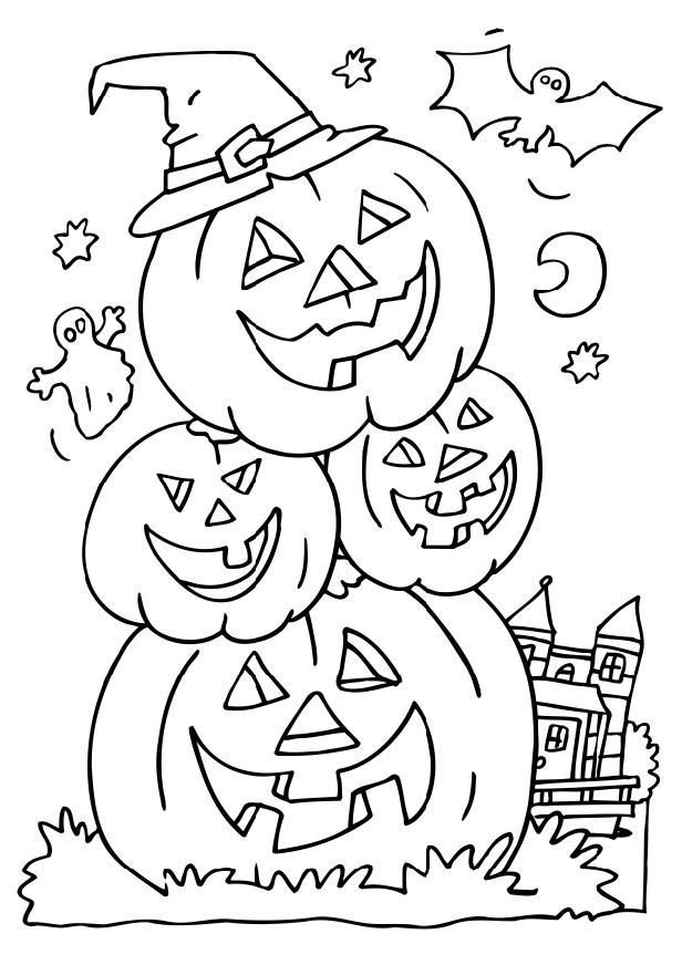 Halloween Coloring Math Pages