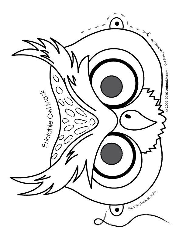 Owl Printable Mask Submited Images