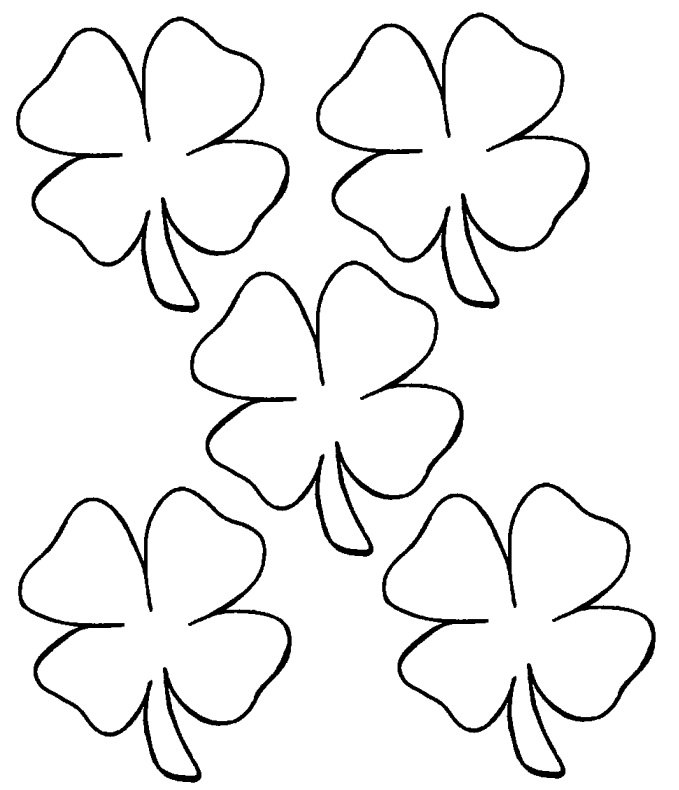 clover flower Colouring Pages