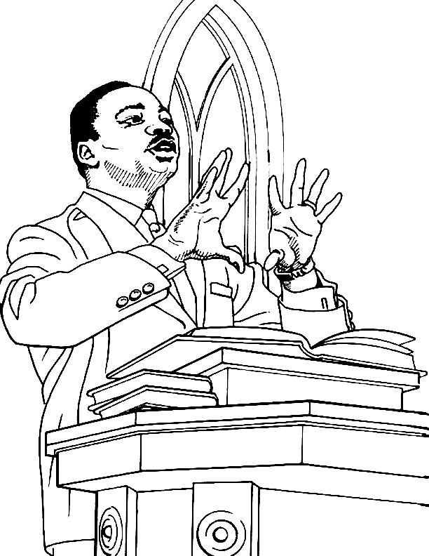 martin luther king jr coloring page coloring home