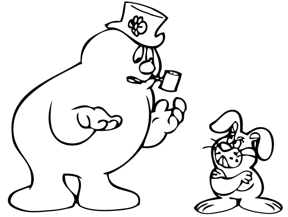 Frosty Snowman Coloring Pages Az Coloring Pages Frosty Coloring Page