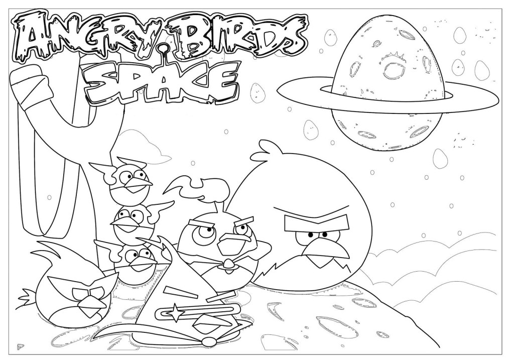 Angry Birds Space Coloring Pages - AZ Coloring Pages
