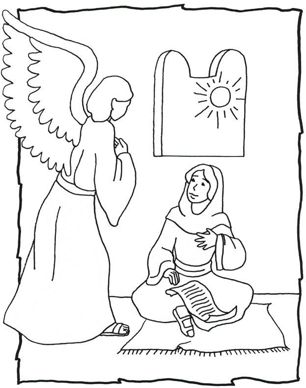 New Testament 1 An Angel Visits Mary Proclaimers For Testament Coloring Pages