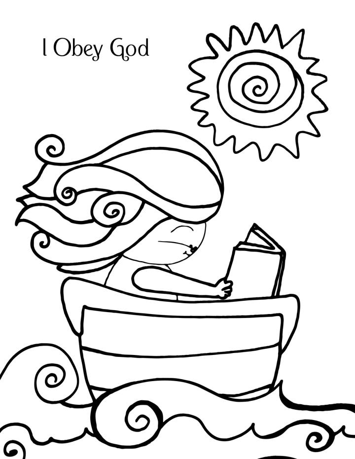 Obey God Coloring Page