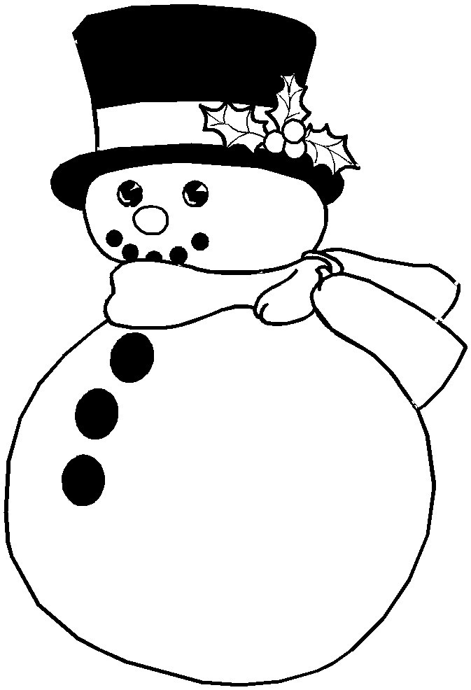 snowman coloring pages free printable - christmas coloring pages snowman az coloring pages