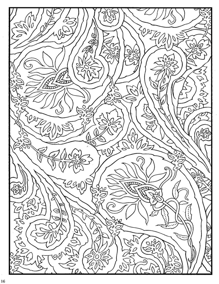 Coloring Pages To Print Designs : Paisley designs coloring book printable pages