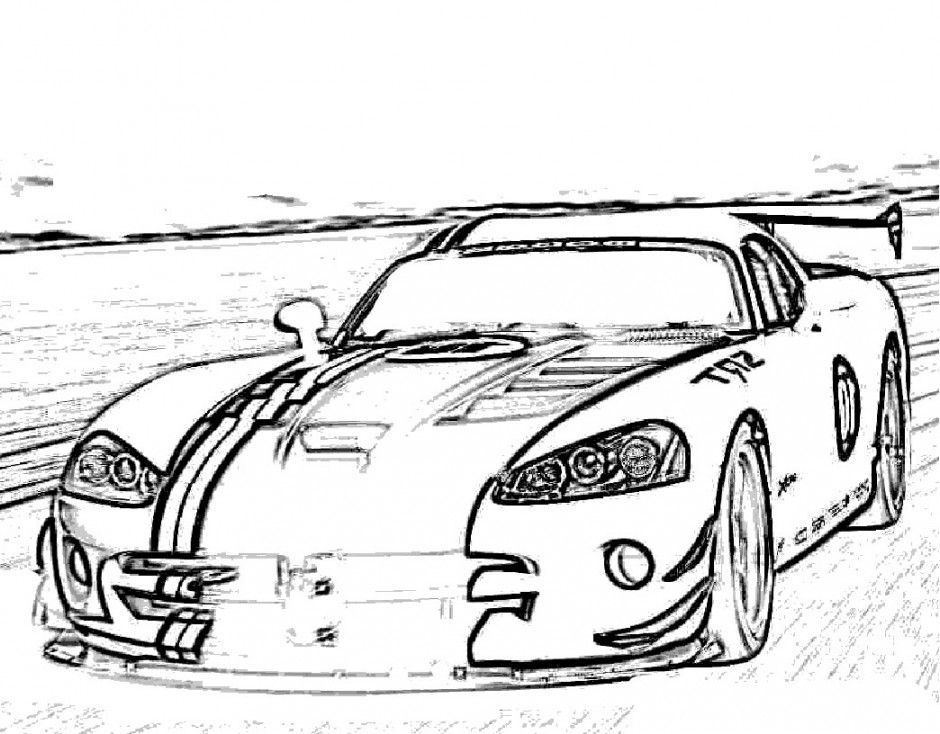 Viper Car Coloring Pages : Dodge viper coloring pages home
