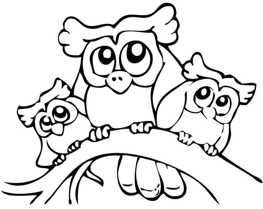 Cute Printable Owl Coloring Pages for Kids | UniqueColoringPages