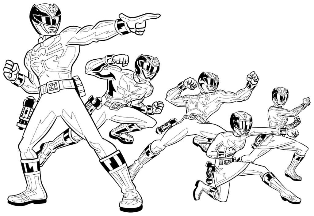 Power Rangers Coloring Pages and Book | UniqueColoringPages
