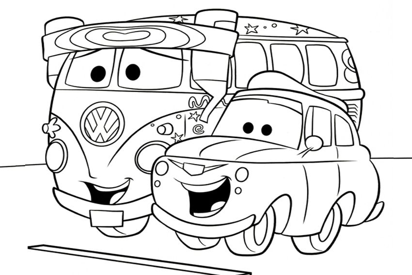 coloring in cars coloring pages from the 2 movies made by disney