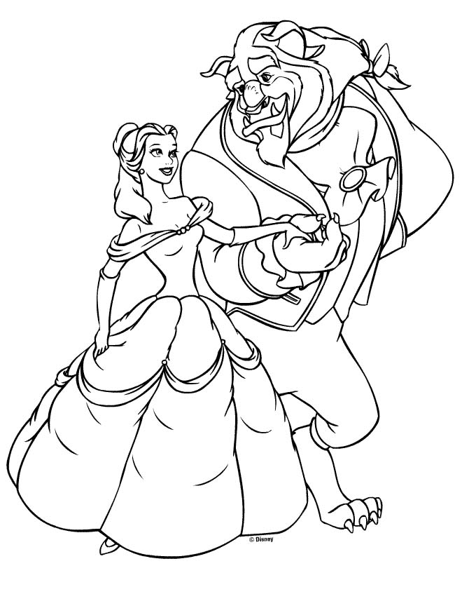 Belle Princess Coloring Pages Coloring Home