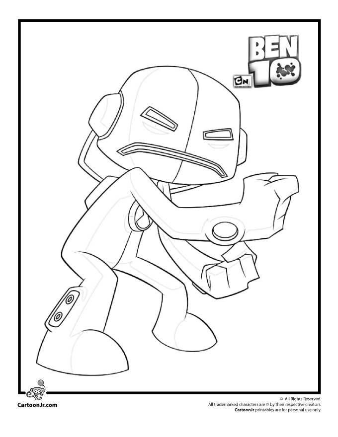 Ben 10 Coloring Pages | Cartoon Jr.