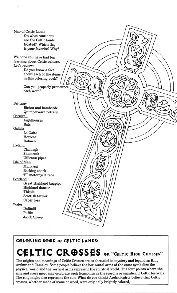 free coloring pages celtic cross - photo#20