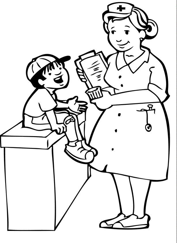 13 Pics Of Doctors Visit Coloring Pages