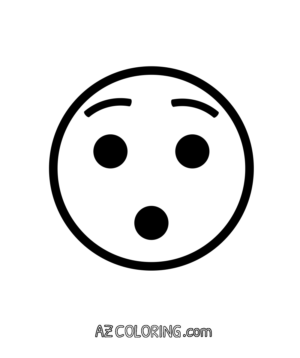 Hushed Face Surprise Emoji Coloring Page Coloring Home