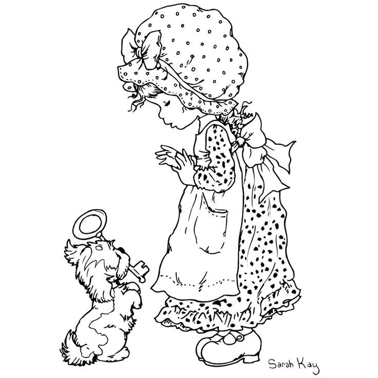 Holly Hobbie Original Coloring Pages - Coloring Home