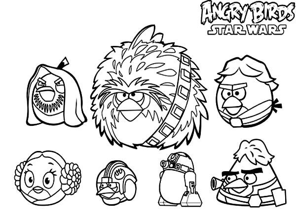 Coloring Book Angry Birds Star Wars : Angry Birds Star Wars Coloring Pictures Coloring Home