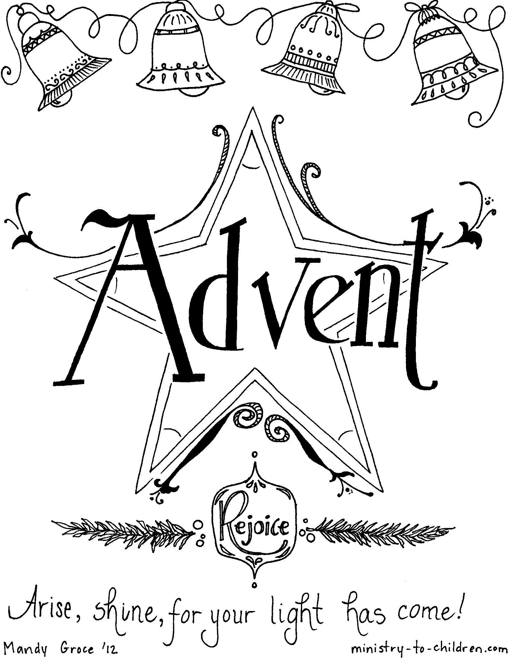 Advent Coloring Page. . Christmas Kindergarten Worksheets ...