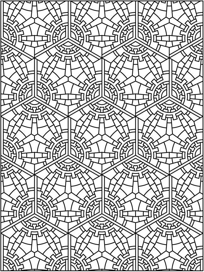Worksheets Tessellation Worksheets To Color free tessellations coloring pages az for kids and adults