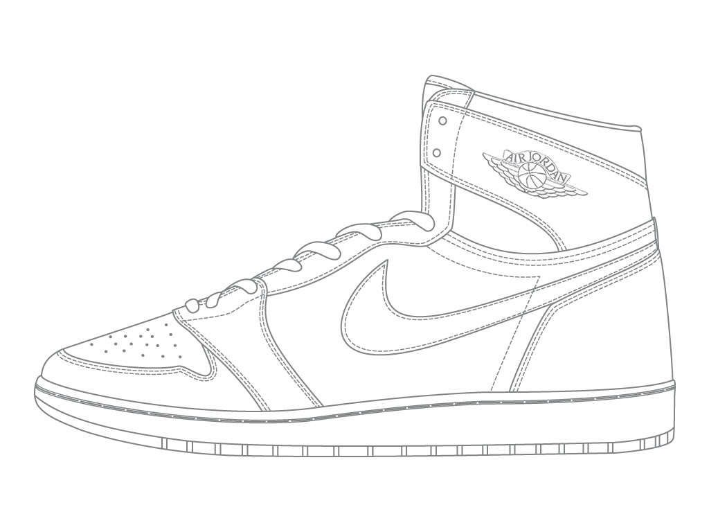 coloring pages jordan shoe coloring pages colorings press