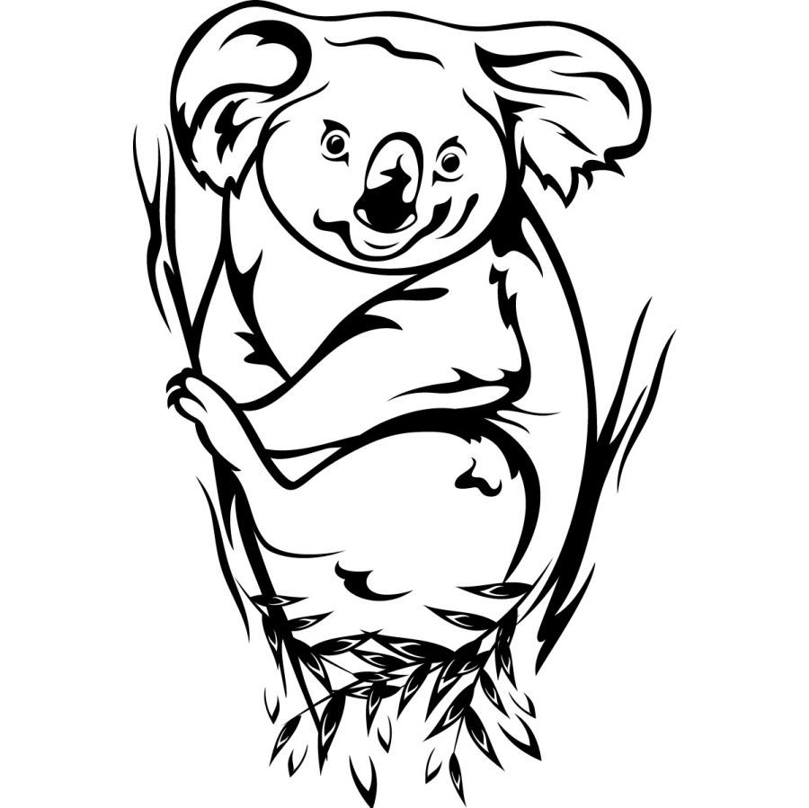 Printable Koala Coloring Pages Coloring Me Coloring Home